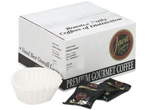 Distant Lands Coffee 308042 Coffee Portion Packs, 1-1/2 oz Packs, French Roast