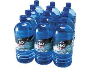 Office Snax 00026 Bottled Spring Water, 1 Liter, 12 Bottles/Carton