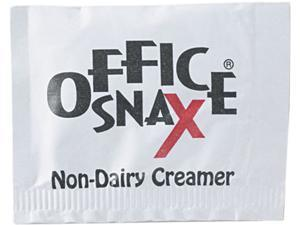 Office Snax 00022 Premeasured Single-Serve Packets, Powder Non-Dairy Creamer, 800/Carton