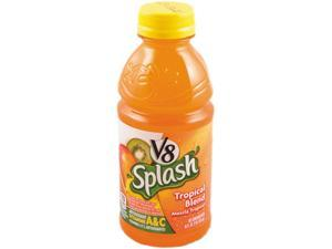Campbell's 14654 V-8 Splash, Tropical Blend, 16 oz. Bottle, 12/Box