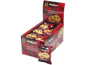 Office Snax W-536 Walker's Shortbread Cookies, Chocolate Chip, 2 Cookies/Pack, 24 Packs/Box