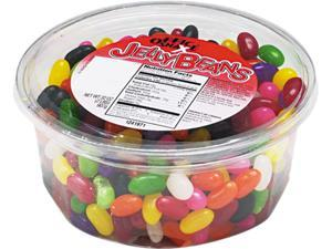 Office Snax 70013 Jelly Beans, Assorted Flavors, 2lb Tub, 12/Carton