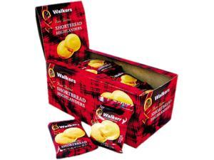 Office Snax W-176 Walker's Shortbread Highlander Cookies, 1.4 oz, 2-Pack, 12 Packs/Box