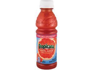Tropicana 30109 100% Juice, Ruby Red Grapefruit, 10 oz Plastic Bottle, 24/Carton