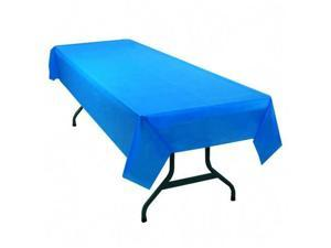 Tablemate Table Set Rectangular Table Cover, Heavyweight Plastic, 54 x 108, Blue, 6/Pack