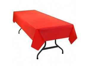 Tablemate Table Set Rectangular Table Cover, Heavyweight Plastic, 54 x 108, Red, 6/Pack