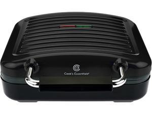 Cook's Essential Flavor Grill with Ceramic Plates K42947 BLACK