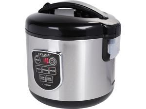 Tayama TRC-80  8-Cup/3 quart MICOM Digital Rice Cooker and Food Steamer, Black