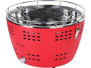 "TAYAMA TYQ-001 15"" Portable Charcoal Grill, Red"