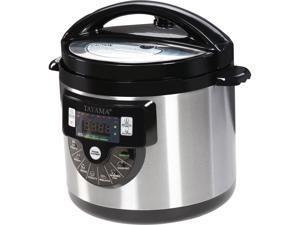 Tayama TMC-60XL 6 quarts 8-in-1 Multi-Function Pressure Cooker, Black