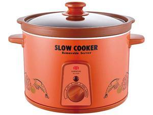 Sunpentown SC-5355 Red 5 liters Zisha Slow Cooker