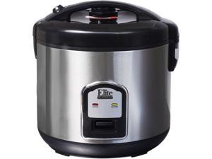 Maxi-Matic Elite DRC-1000B Stainless Steel Platinum 10-Cup Stainless Steel Rice Cooker
