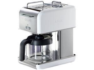 DeLonghi DCM04WHITE Stainless steel 10 Cup kMix Drip Coffee Maker
