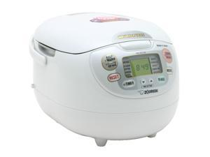 ZOJIRUSHI NS-ZCC18 Premium White Neuro Fuzzy 10 cups 1000W Rice Cooker & Warmer