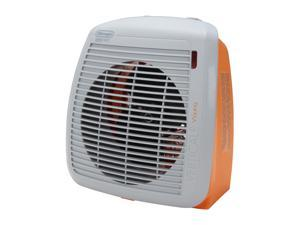 Delonghi HVY1030 750 - 1500 W Fan Heater, Orange with Gray Face Plate