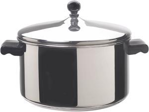 FARBERWARE 50005 Stainless Steel 6 Quart Covered Stockpot