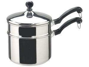 Farberware Classic Series Stainless Steel 2-Quart Covered Saucepan with Double