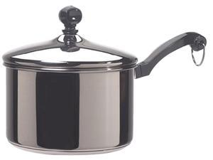 FARBERWARE 50002 Stainless Steel Classic 2 Quart Covered Saucepan