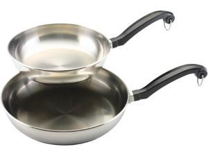 "FARBERWARE 71229 Classic 8"" & 10"" Fry pan Stainless Steel"