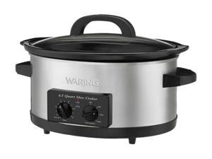 Waring Pro WSC650 Stainless Steel 6.5 Qt. 300-Watt 6.5-Quart Slow Cooker