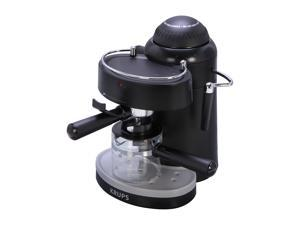 Krups XP100050 Steam Espresso Machine with Frothing Nozzle for Cappuccino, Black