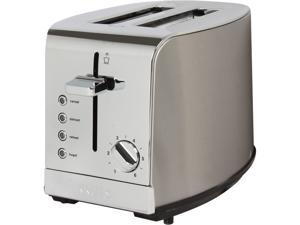 KRUPS KH732D50 Stainless Steel Breakfast Set 2-Slice Toaster with Brushed and Chrome Stainless Steel Housing.