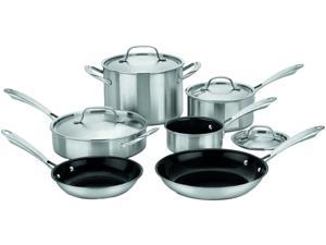 Cuisinart GGT-10 GreenGourmet Tri-Ply Stainless 10-Piece Cookware Set Silver