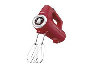 Cuisinart CHM-3R PowerSelect 3-speed 220-watt Electronic Hand Mixer, Red