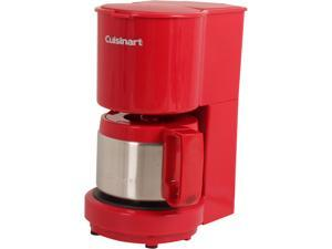 Cuisinart DCC-450R Red 4-Cup Coffeemaker with Stainless Steel Carafe