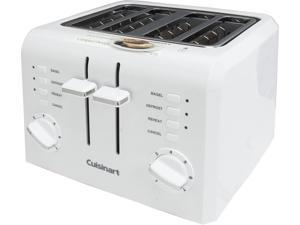 Cuisinart CPT-142 White/Stainless Steel 4-Slice Compact Plastic Toaster