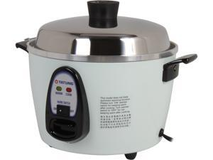 TATUNG TAC-6G(SF) 6 Cups Multifunction Indirect Heat Rice Cooker Steamer and Warmer, White