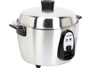 Tatung Stainless Steel Multi-Functional Rice Cooker and Steamer 6-cup Uncooked / 12-cup Cooked TAC-06KN(UL)