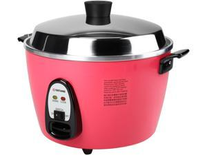 TATUNG Multi-Functional Cooker and Steamer, Peach Red, 20 Cups cooked//10 Cups uncooked, TAC-10GS-PH