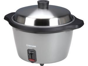 TATUNG TAC-11L(H)-UL 11-Cup Multifunction Indirect Heat Rice Cooker Steamer and Warmer, Grey