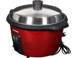 TATUNG TAC-11T(H)-UL Ceramic Indirect Rice Cooker w/ Stainless Steel Pot, Red