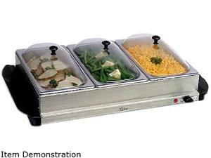 MAXI-MATIC EWM-6171 Elite Platinum 3-Tray 2.5-Quart Buffet Server