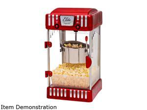 Elite Deluxe EPM-250 Maxi-Matic 2.5 Ounce Classic Tabletop Kettle Popcorn Popper Machine, Retro-Style, Red