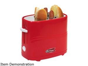 Elite Cuisine MAXI-MATIC ECT-304R Hot Dog Toaster Red