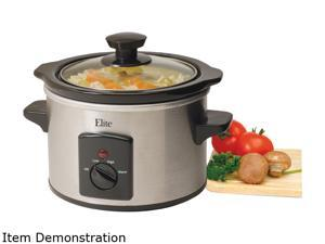 Elite MST-250XS Stainless Steel 1.5 Qt. Mini Slow Cooker
