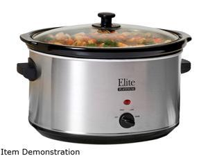 Maxi-Matic MST-900V Stainless Steel 8.5 Qt. Deluxe Sized Slow Cooker