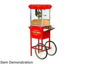 MAXI-MATIC EPM-400 Red 8 oz. Deluxe Popcorn Trolley