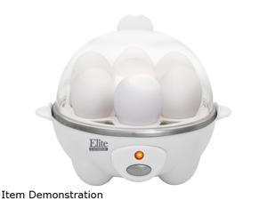 Maxi-Matic Elite EGC-007 White Cuisine Automatic Easy Egg Cooker