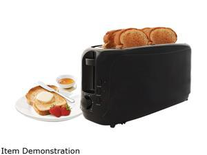 MAXI-MATIC ECT-3803 Black 4 Slice Cool Touch Long Toaster