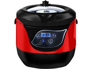 Maxi-Matic Elite EPCM-55 Red 5.5Qt. Smart n' Healthy Low Pressure Cooker