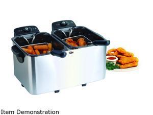 Maxi-Matic Elite EDF-401T 4Qt. Dual Basket Deep Fryer