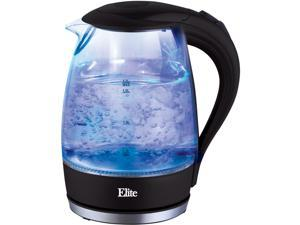 Elite  EKT-300  Black  1.7L Cordless Glass Kettle Black