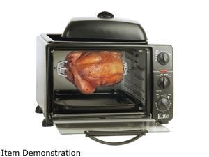 Maxi-Matic ERO-2008NZS Elite Cuisine 6 Slice Countertop Toaster Oven Rotisserie & Broiler
