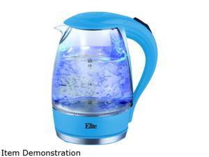 MAXI-MATIC EKT-300BL Blueberry Elite Platinum 1.7L Glass Cordless Electric Kettle