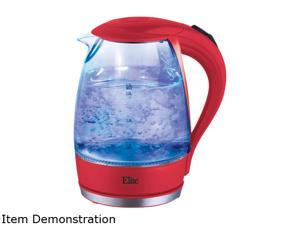 Elite EKT-300R Red Elite Platinum 1.7L Glass Cordless Electric Kettle