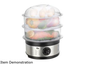 Maxi-Matic EST-2301 Up to 8-1/2 quarts 3 Tier 8.5 Quart Food Steamer